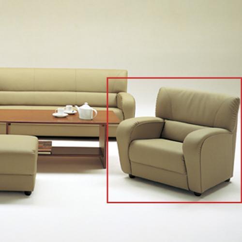 アームチェア ビニールレザー張り 一人用ソファ 応接用 応接家具 応接ソファ チェア 応接室 役員室 モダン モダン NC-2702AC
