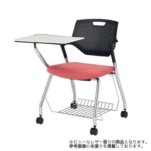 ミーティングチェア 肘付き キャスター付き 送料無料 テーブル付き 収納付き 収納付き 棚付き タブレット付き メモ台 テーブル付きチェア オフィスチェア 9319RZ-PB