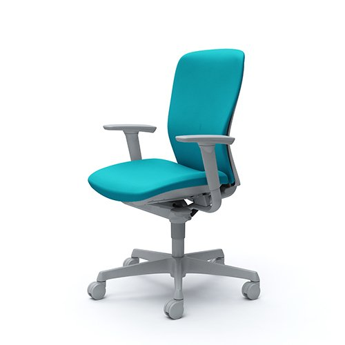 スラート チェア オカムラ 送料無料 ワークチェア OAチェア オフィス家具 可動アーム デスクチェア 岡村製作所 クッションバックチェア C385GR-FS