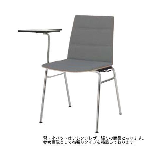 スタッキングチェア 送料無料 メラミンシェルタイプ テーブル付き メモ台付きチェア ミーティングチェア セミナーチェア 研修所 研修所 L636FT-P781