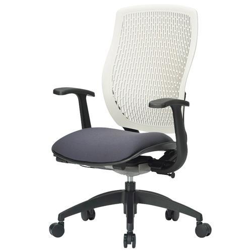 オフィスチェア 完成品 肘付き 布張り 布張り ハイバック メッシュバック キャスター付き 事務椅子 パソコンチェア デスクチェア MA-1535 送料無料