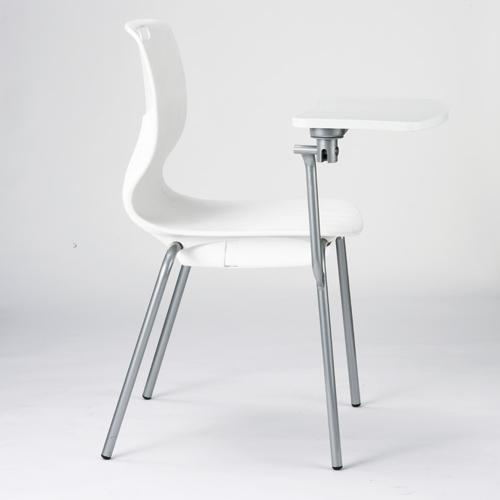 ミーティングチェア ミーティングチェア メモ台 送料無料 ヌードタイプ 4本脚 固定脚 テーブル付きチェア オフィスチェア 研修 セミナー 講義 MC-463T
