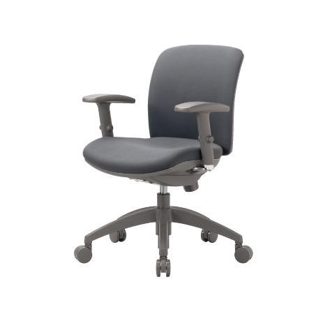 チェア ローバック 可動肘付 キャスター付 布張り ビニールレザー張り 11色展開 ロッキング機構 回転イス 回転イス オフィスチェア 事務用椅子 OA-2115AJ 送料無料