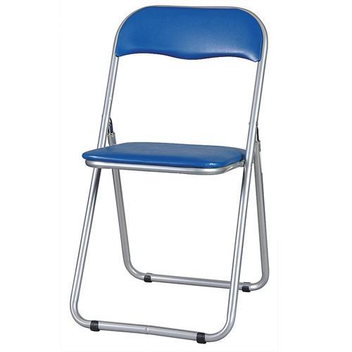 【法人限定】 パイプ椅子 パイプイス スライド式 ミーティングチェア ブラウン ブルー 会議用イス 折り畳み椅子 打合せ ダイニングチェア 集会 講演 YH-31N lookit 02