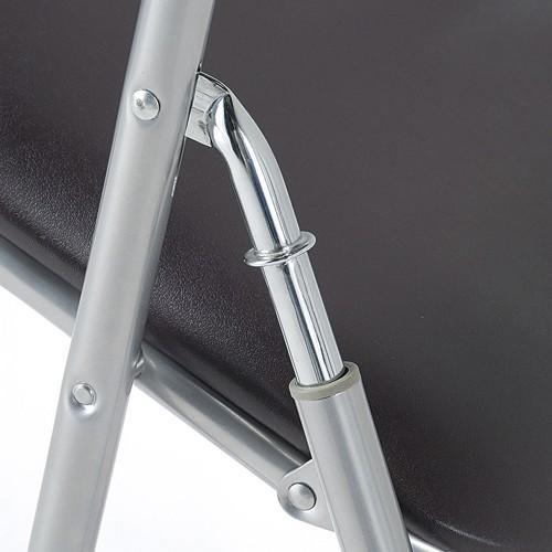 【法人限定】 パイプ椅子 パイプイス スライド式 ミーティングチェア ブラウン ブルー 会議用イス 折り畳み椅子 打合せ ダイニングチェア 集会 講演 YH-31N lookit 04