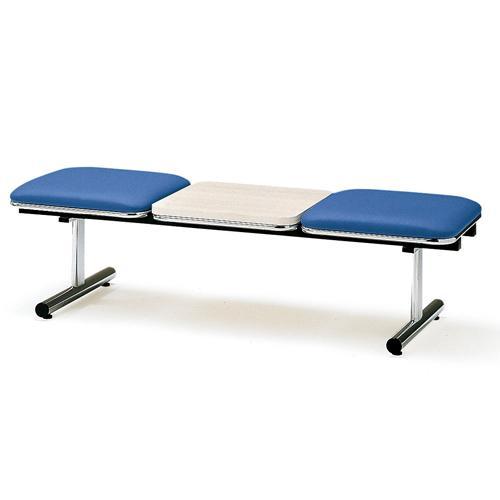 ロビーチェア 2人用 ベンチ テーブル付き 抗菌 防汚 シンプル シンプル カラフル 椅子 チェア ロビー オフィス FTL-2NTL