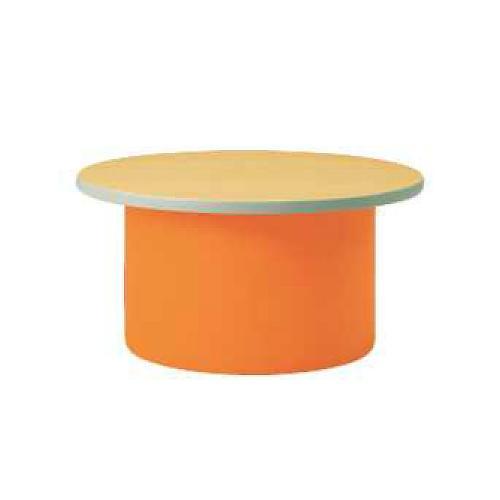 【法人限定】 キッズテーブル ラウンドテーブル 子ども用 作業台 ミニテーブル サイドテーブル カラフル キッズスペース 保育園 幼稚園 子ども部屋 L9010-90MN