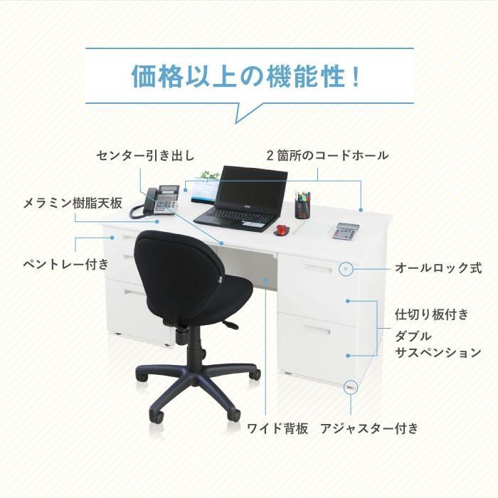 【 法人 送料無料 】 オフィスデスク デスク 両袖机 1600×700mm スチール 事務机 事務用デスク 仕事机 つくえ 幅160cm 鍵付き スチールデスク DESK LRD-167 lookit 04