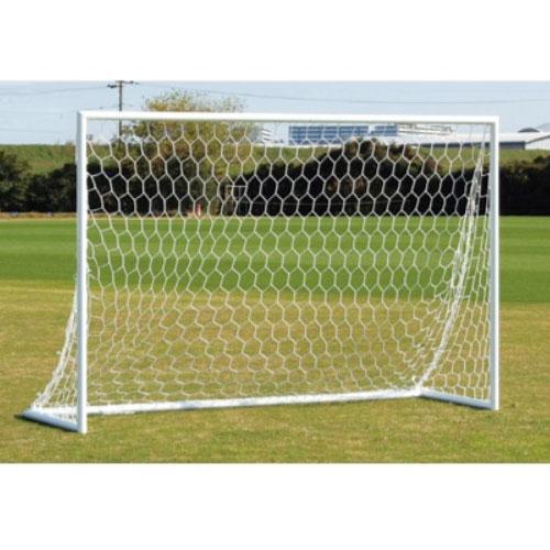 フットサルゴール 幅3×高さ2m アルミ製ゴール ネット付ゴール ミニサッカー フットサル サッカーゴール 運動施設 グラウンド 教育施設 S-4865