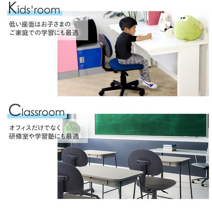 オフィスチェア デスクチェア パソコンチェア 椅子 イス 事務椅子 人気 PCチェア 布張り 在宅 自宅 キャスター付き 軽量 学習椅子 塾 ワークチェア WPA-1|lookit|12