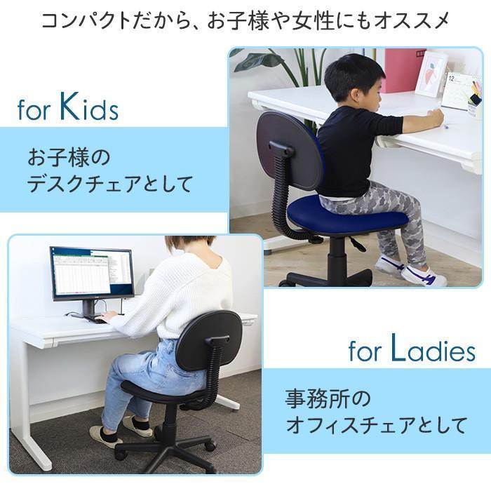 オフィスチェア デスクチェア パソコンチェア 椅子 イス 事務椅子 人気 PCチェア 布張り 在宅 自宅 キャスター付き 軽量 学習椅子 塾 ワークチェア WPA-1|lookit|06