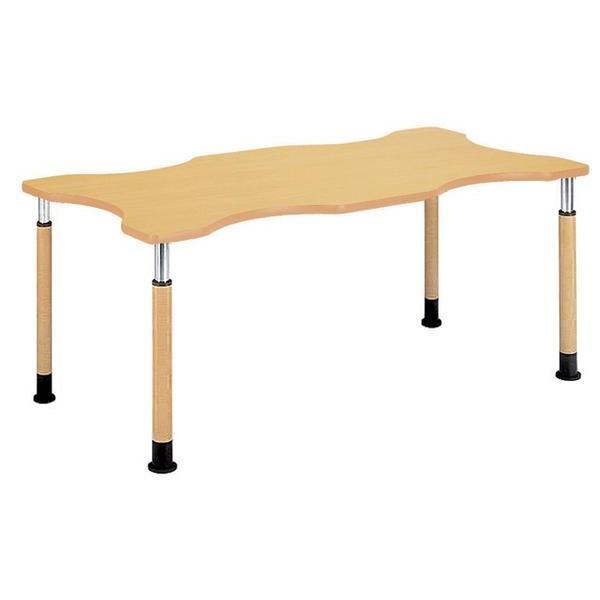 ダイニングテーブル NFPS-1812Q 高さ調節 福祉 福祉 大型