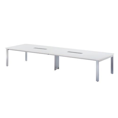 会議テーブル 幅4000mm 奥行1200mm 配線ボックス付き ミーティングテーブル 会議室 オフィス 大きい 広い 角型テーブル 大型テーブル オフィス家具 GUT-4012W
