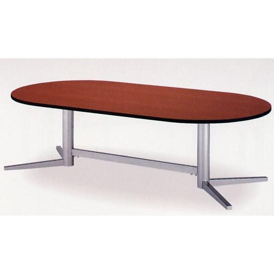 ★soldout★ミーティングテーブル 楕円天板 楕円天板 V脚 会議室 打ちあわせ