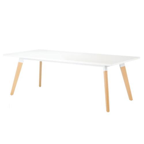 介護 福祉施設用 テーブル 幅2100mm 奥行1000mm 角型 角型 ダイニングテーブル ミーティングテーブル シンプル 会議 北欧 木製 大型テーブル オフィス SLA-2110K