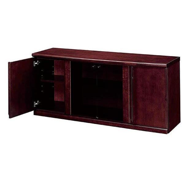 ★soldout★サイドボード 書庫 キャビネット ローボード 役員用家具 ガラス製 収納 WS-741