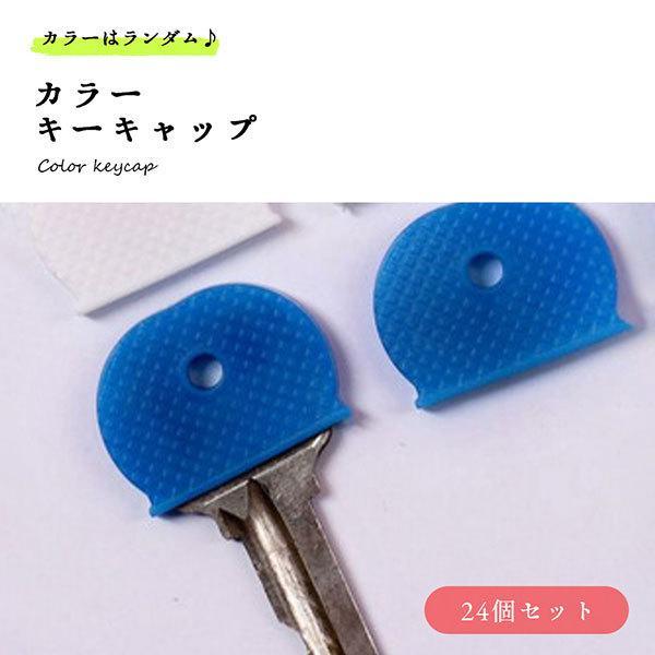 キーカバー キーキャップ カラー 鍵 タグ 24個組 簡単 評判 すっぽり シンプル 送料無料 通常便なら送料無料