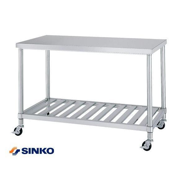 厨房設備 作業台(キャスター付) 組立式 ASC型 1200x600x800H ASC-12060