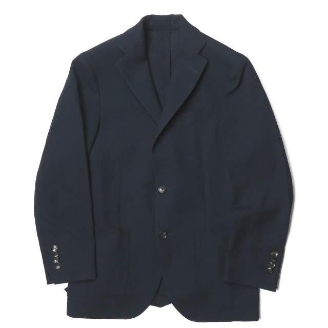 激安通販 ラルディーニ LARDINI イタリア製 ウールホップサック3Bジャケット JE32526AQ 42 ネイビー ボタン テーラード アウター, 金物広場 みなと屋 9685b217