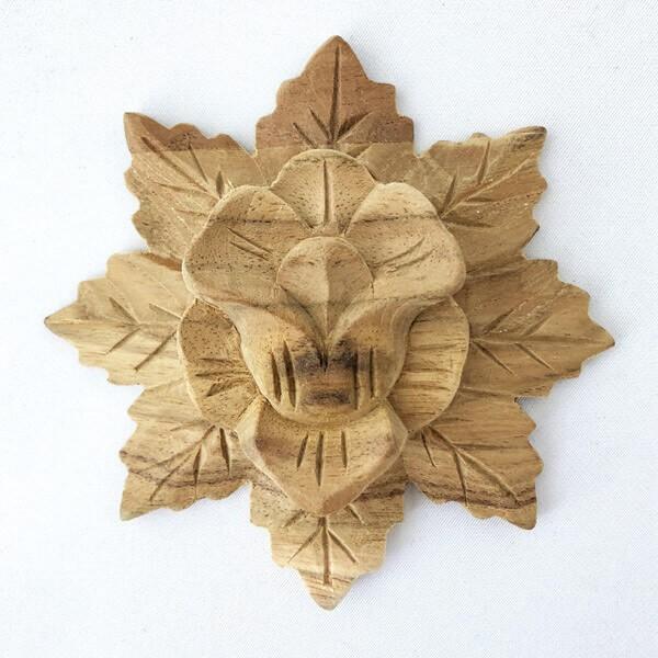 ウッドカービング 壁面 インテリア 壁飾り レリーフ 未使用品 建材 木製 正規品送料無料 チーク 天然木 浮き彫り アジアン雑貨 おしゃれ 無垢材 花模様 10 ナチュラル