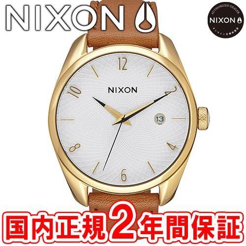 驚きの値段 完売 ニクソン 腕時計 レディース NIXON THE BULLET LEATHER バレットレザー ゴールド/サドル NA4731425-00, アカシナマチ d976fd43