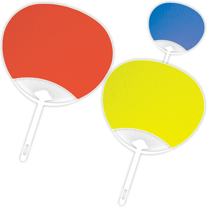うちわ 無地 カラーうちわ 赤 高価値 青 贈与 黄