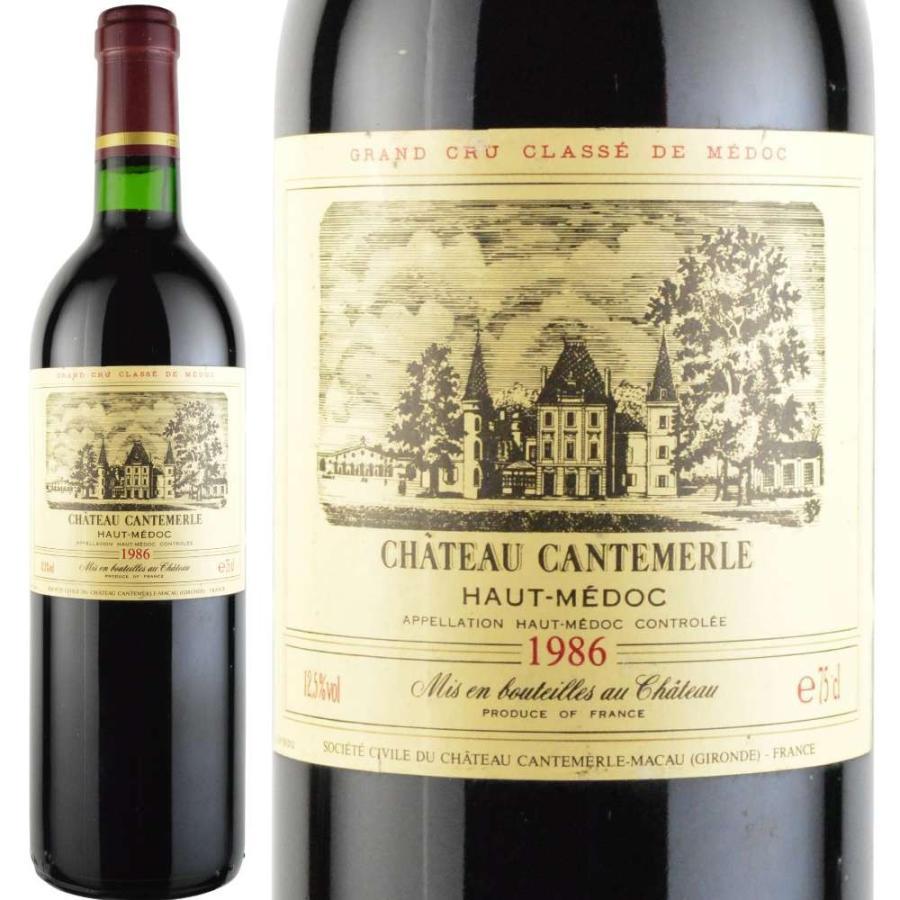 1986年 ワイン シャトー・カントメルル 750ml