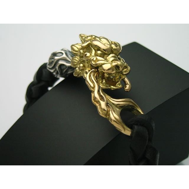 魅力的な 【シルバーアクセサリー】18金製の狛犬レザーブレスレット【送料無料】, べりはやっ!:46c8379e --- airmodconsu.dominiotemporario.com