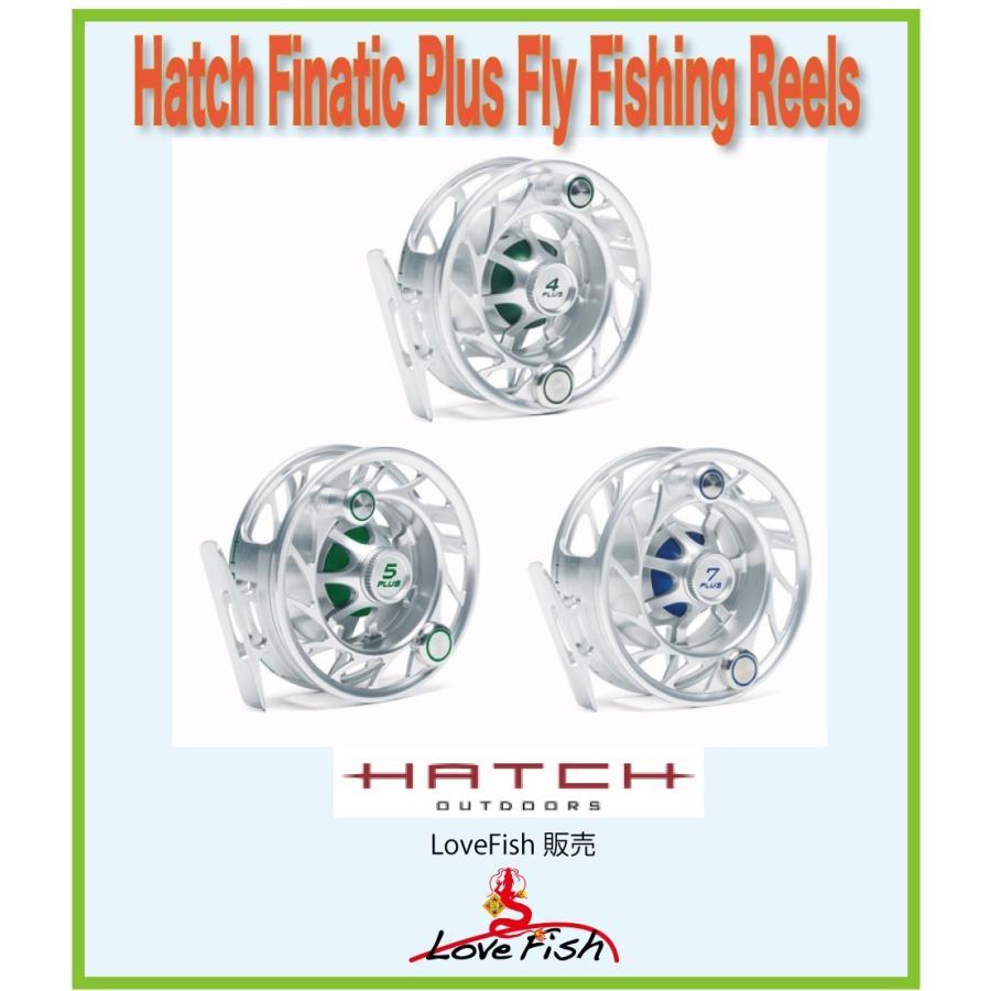 フライリールHatch Finatic Plus Fly Fishing ReelsH5P-CG-LA税/国際送料込み
