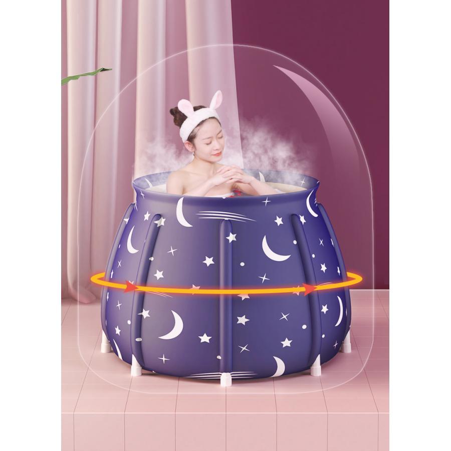 ポータブルバスタブ 折りたたみ浴槽  シャワールーム 水風呂 プール キャンプ  簡易浴槽 家庭用 浴槽 大人 子供|loveliness|05