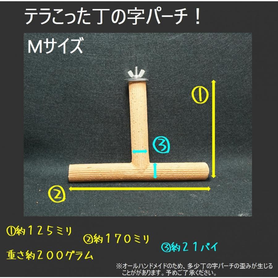 丁の字パーチ!Mサイズ / 爪研ぎパーチ インコ オウム 鳥 lovewing-pro