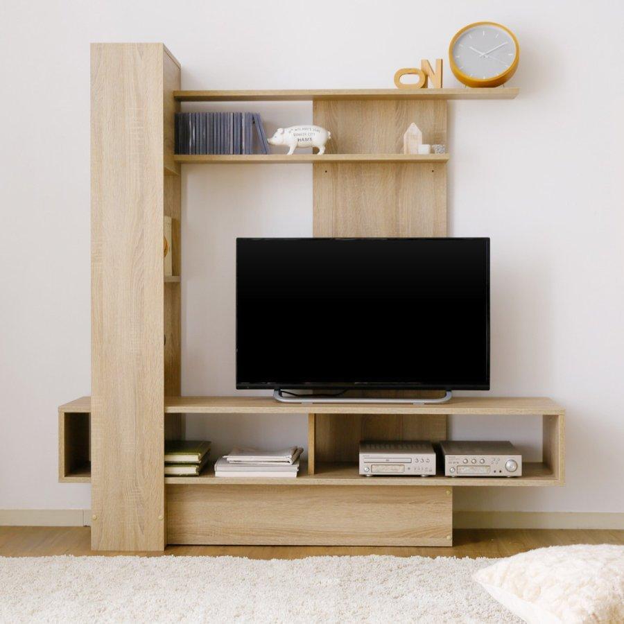 テレビ台 ハイタイプ 壁面収納 140cm おしゃれ 収納 木製 おしゃれ ラック TV台 LOWYA TVボード メーカー公式 リビング ロウヤ