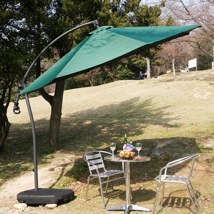 吊り下げ式 パラソル 日よけ 日除け ガーデン ハンギングパラソル クランク回転式 おしゃれ エクステリア ロウヤ LOWYA