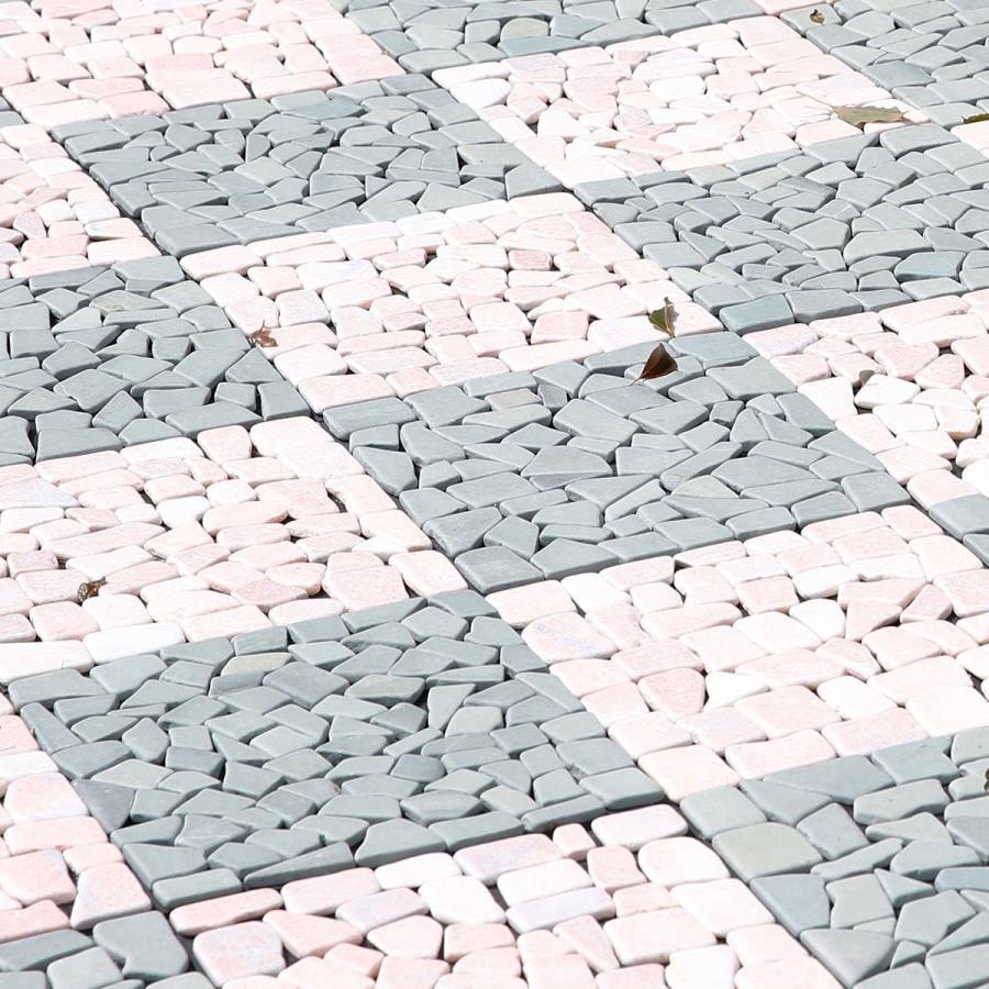 庭石 庭タイル タイル お中元 10枚セット おしゃれ 天然石 DIY ガーデン 庭 LOWYA ロウヤ 置くだけ エクステリア 屋外 玄関 ベランダ テラス 購買