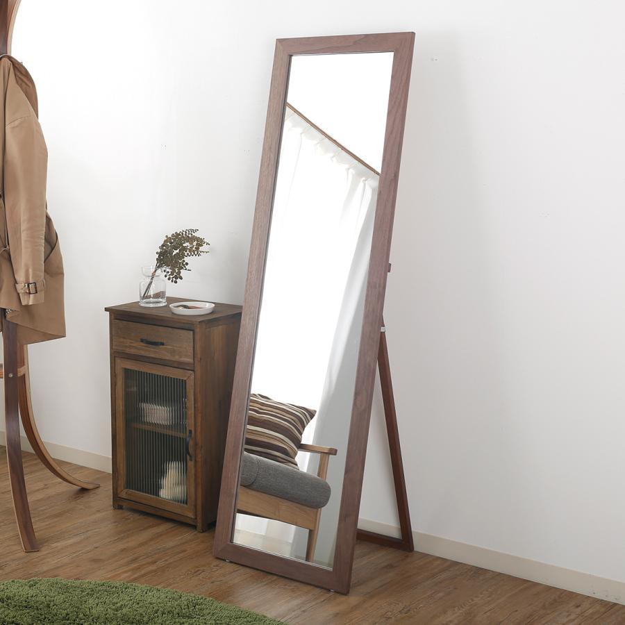 送料無料でお届けします 木製スタンドミラー 鏡 全身姿見 全身鏡 ナチュラル LOWYA ロウヤ おしゃれ 5☆大好評