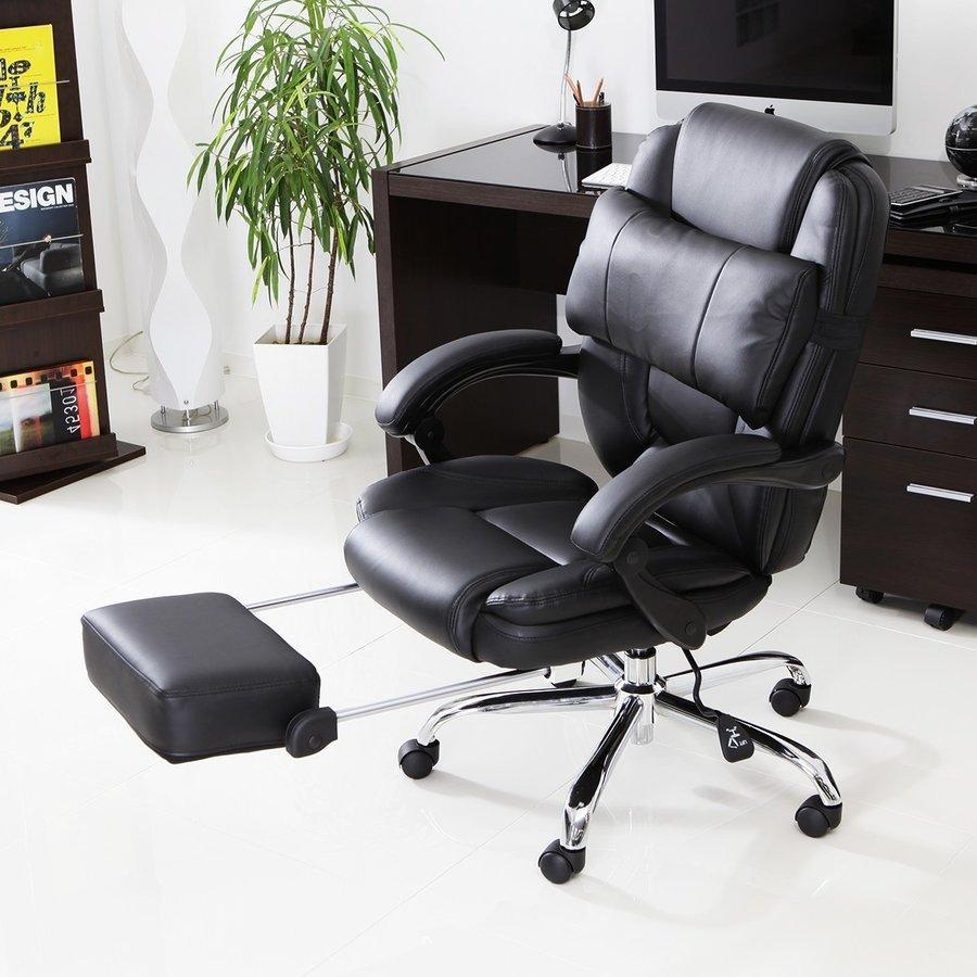 オフィスチェア 結婚祝い 肘付 ハイバック リクライニング メッシュ PU ゲーミング おしゃれ 椅子 PC 事務椅子 即出荷 チェアー ロウヤ LOWYA フットレスト パソコン イス