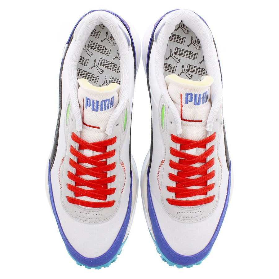 White-Dazzling Blue-High Rise PUMA Style Rider Ride on