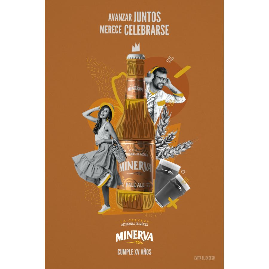 【メキシコ産】ミネルバビールペールエール Pale Ale 355mlアルコール6% メキシコビール|lr-t|02