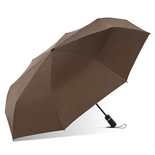 FENHANYS Folding Umbrella,Portable Sunscreen Anti-Uv Sun Umbrella,Steel Windproof Black Glue Umbrella,Fully Automatic Polyester Parasol Wear