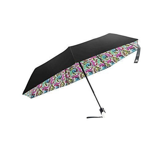 Tcoolets Portable Sun Umbrella Female Umbrella Folding Windproof Umbrella Durable Advanced Waterproof UV Protection Healthy Lifestyle【並