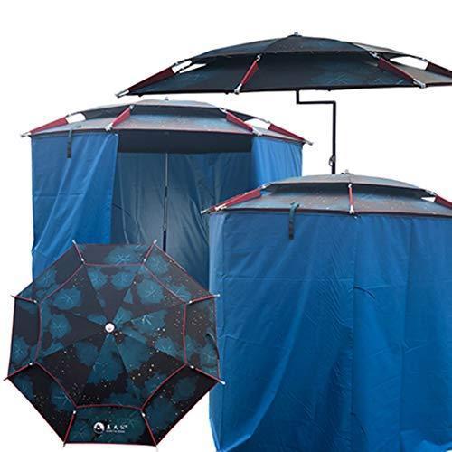 Fishing Tent, Rain-proof , Sun-proof, Foldable, Zippered, Detachable, Aluminum Alloy, Black Rubber Cloth, Dual-purpose Design, Double-layer