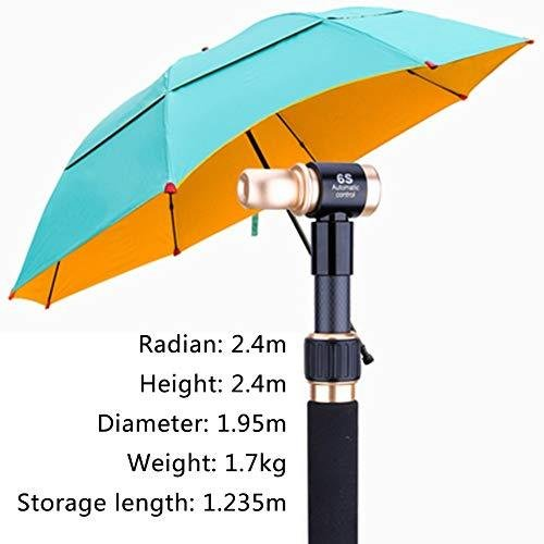 Logo Fishing Umbrella, PG Cloth Three-Layer Glue, Sunshade, Rainproof and Windproof, Fully Automatic, Button Type, Rain Or Shine, Special fo