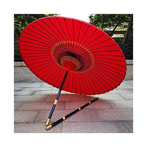 Logo Oil Paper Umbrella, Full Colored Thread Craft, Big Red, Solid Wood Umbrella Pole, Wedding Photography Dance, Retro Nostalgia CHENHZ (Co