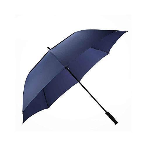 ZLDAN Long-Handled Umbrella Windproof Umbrella Men's Super-Reinforced Anti-Crisis Straight Shank Golf Business (Color : Blue, Size : S (110c