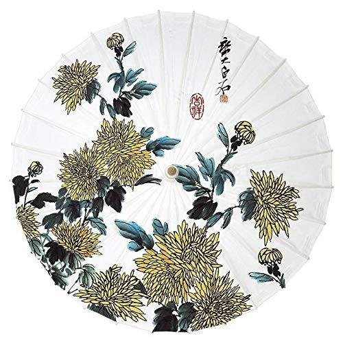 Oil Paper Umbrella, Oil Paper Umbrella Flower Picture Classical Rainproof Practical Umbrella Craft Paper Umbrella (Color : 100cm 8)【並行