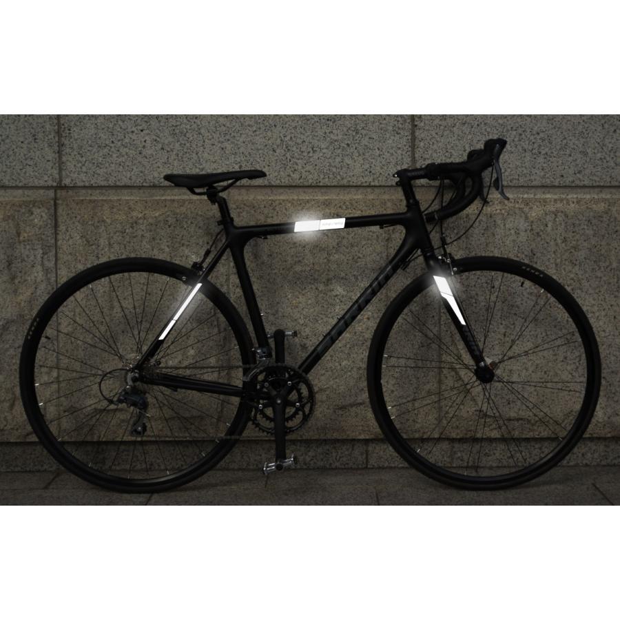 リフレクティブ フレームキット ホワイト あらゆる種類の自転車のフレームに対応する反射ラベルのセット ロードバイク・MTB・ママチャリの夜間走行を安全性に|ltandpjapan|02