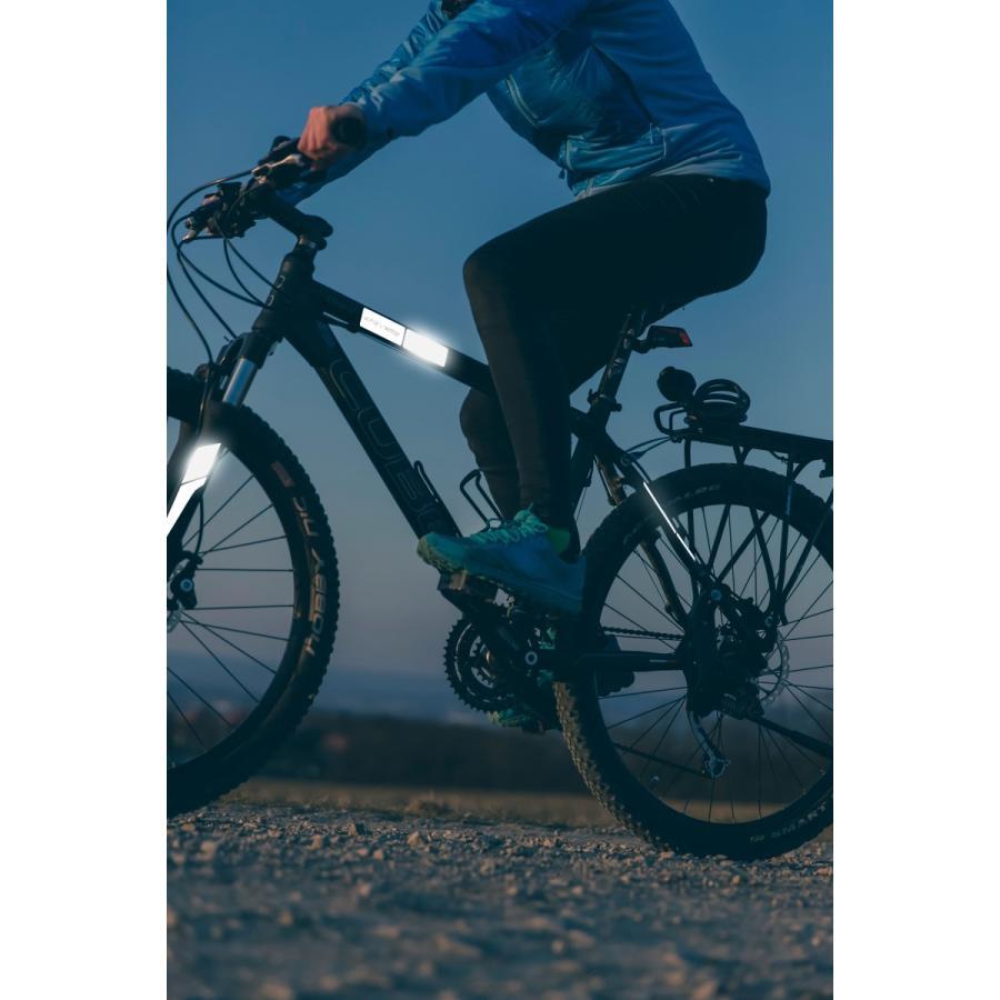 リフレクティブ フレームキット ホワイト あらゆる種類の自転車のフレームに対応する反射ラベルのセット ロードバイク・MTB・ママチャリの夜間走行を安全性に|ltandpjapan|03