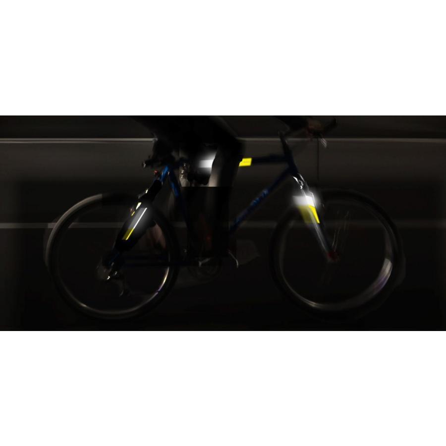 リフレクティブ フレームキット ホワイト あらゆる種類の自転車のフレームに対応する反射ラベルのセット ロードバイク・MTB・ママチャリの夜間走行を安全性に|ltandpjapan|04