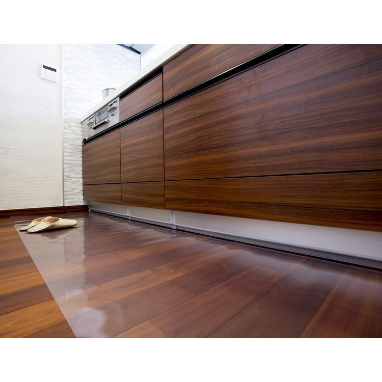 透明キッチンマット/キッチンマット 拭けるキッチンマット/クリア 床面保護マット/アキレス/床暖対応/日本製|lucentmart-interior|02