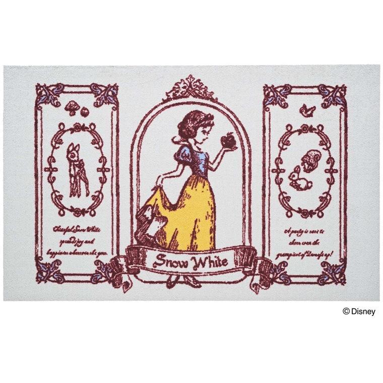玄関マット ドアマット/ディズニー/ウォッシュ&ドライ/洗える/白雪姫/75×120cm